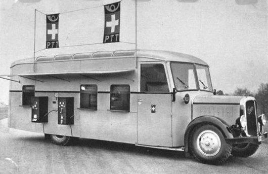 Bureau de poste automobile Saurer