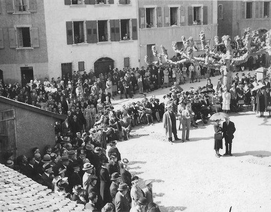Ensevelissement de Gustave Doret le 23 avril 1943