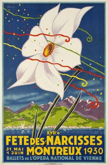 Affiche de la Fête des Narcisses de 1930