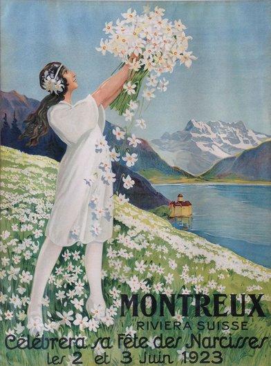 Affiche de la Fête des Narcisses de 1923