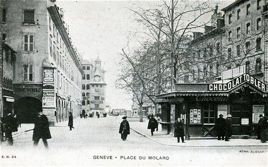 Genève, le kiosque du Molard