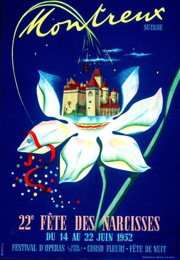 Affiche de la Fête des Narcisses de 1952