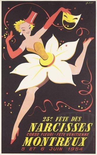 Affiche de la Fête des Narcisses de 1954