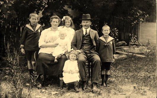 Famille à Sécheron