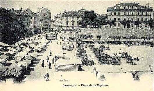 Marché Place de la Riponne