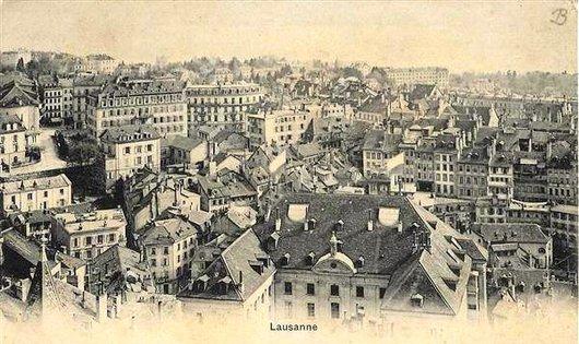 Lausanne avant le Pont Bessières