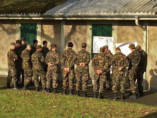 Soldats en formation