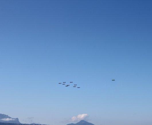Vol de Pilatus PC-7 sur le Léman