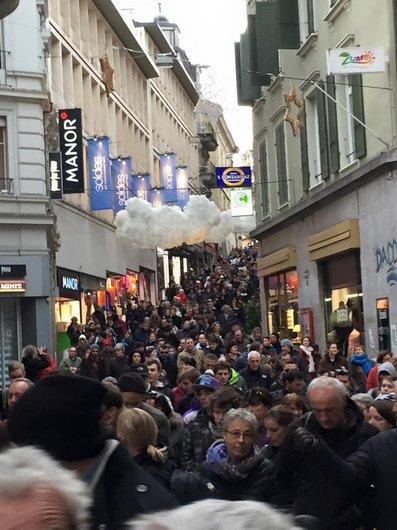 Lausanne la manifestation