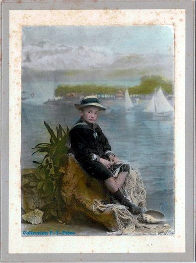 Portrait de Georges Pièce par le photographe Henri Fontannaz