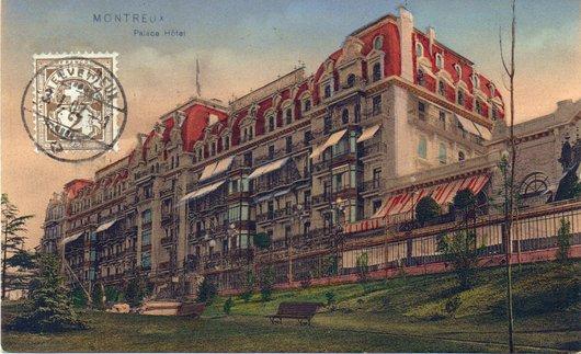 Montreux palace : le toit était-il rouge ?