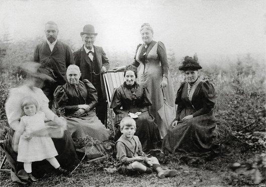 Albert Favarger et sa famille