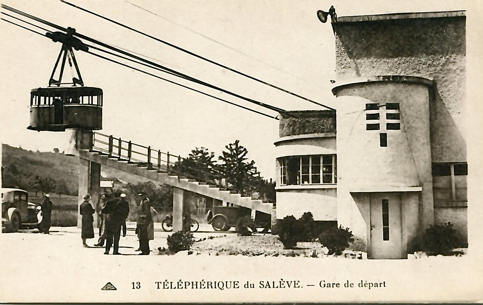 Salève, l'ancien téléphérique
