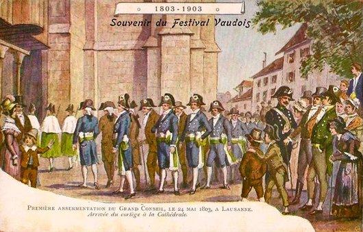 Souvenir du Festival Vaudois à la Cathédrale de Lausannne