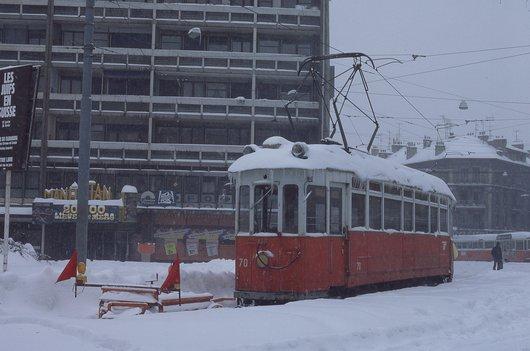 Neige à Genève - 17.02.1985