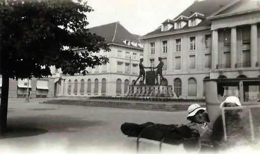 Aarau - Schützendenkmal, Bahnhofplatz