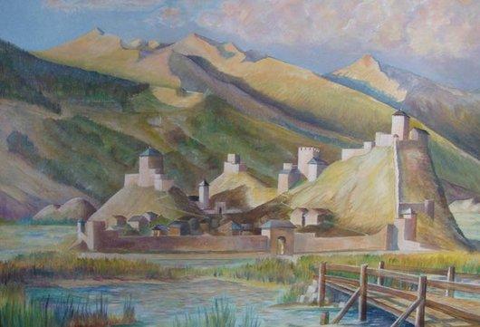 Peinture de Granges au Moyen Age par Françoys Favre