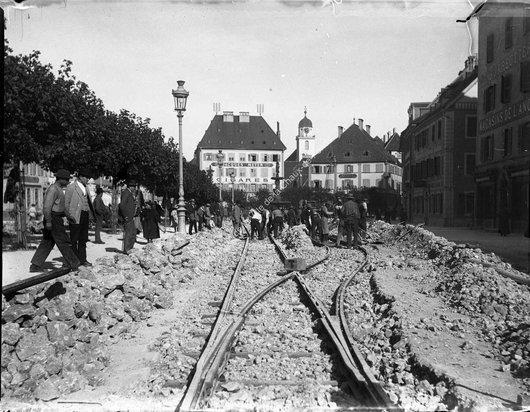 Construction du tram : le croisement