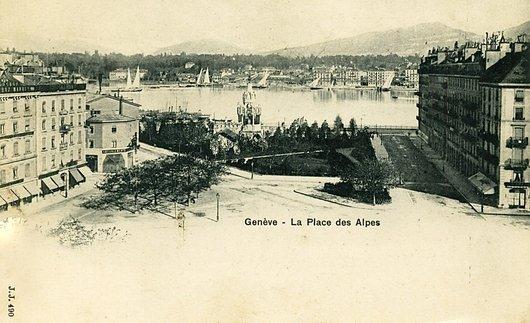 Genève, la place des Alpes