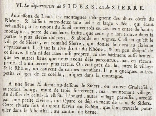 Description de Granges en 1778 et en 1850