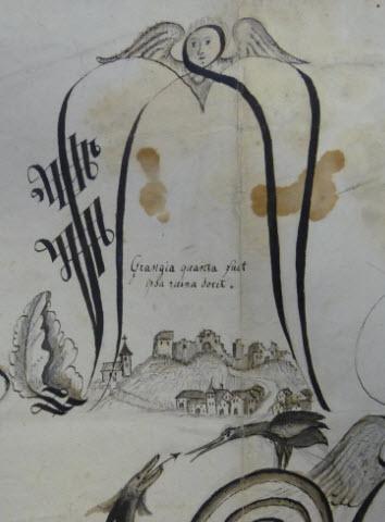 Lettrine en-tête d'un document du XVIIe siècle