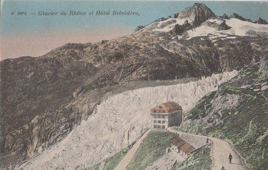 Glacier du Rhône et Hôtel Belvédère