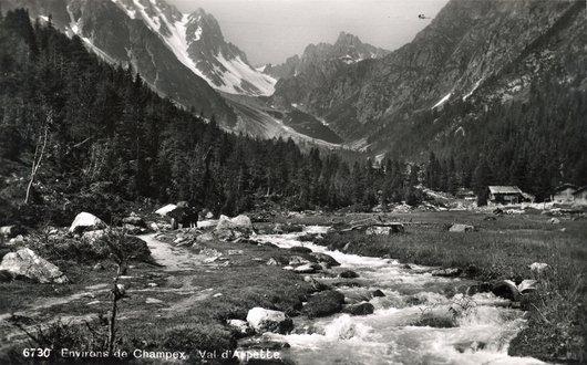 Environs de Champex Val d'Arpette vers 1940