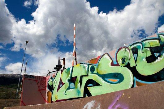 Skatepark démonté