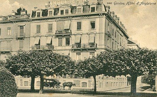 Genève, l'Hôtel d'Angeterre