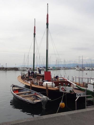 Barque la «Vaudoise» de retour au port d'Ouchy