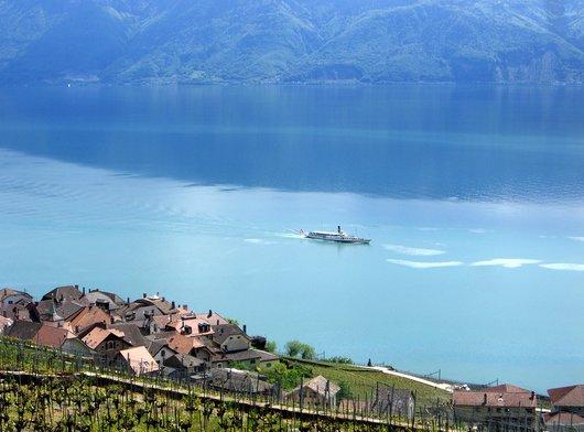 La Suisse au large d'Epesses