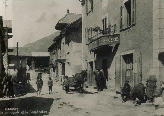 Granges, rue principale, 1918