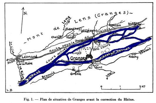 Des traces du vieux Rhône