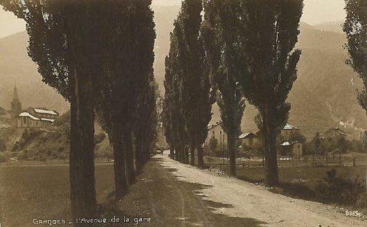 Granges, avenue de la gare, avant 1928