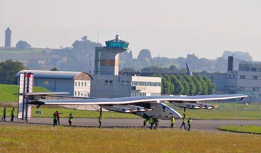 Retour du 5ème vol d'essai de Solarimpulse 2