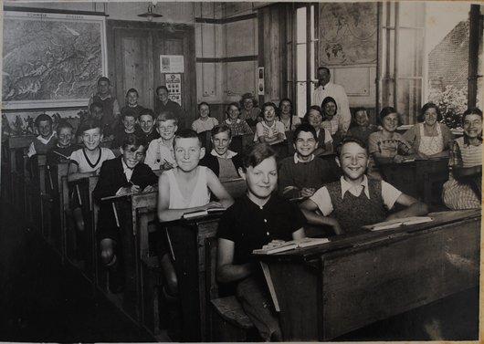 Classe de Dombresson, vers 1940