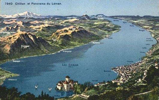 Chillon et panorama du Léman