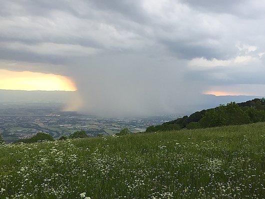 Genève sous l'orage