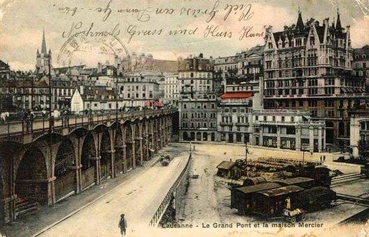 Le Grand Pont et la maion Mercier