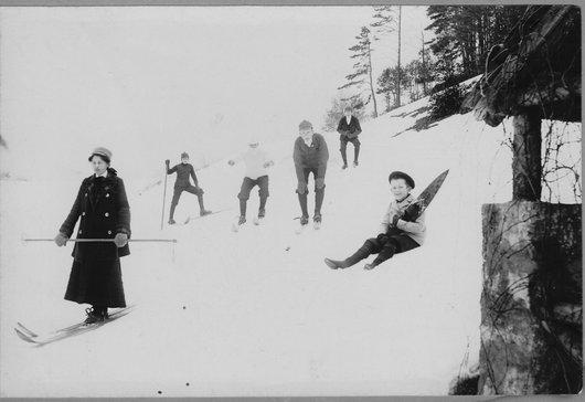 Hiver à la Vue-des-Alpes vers-1905