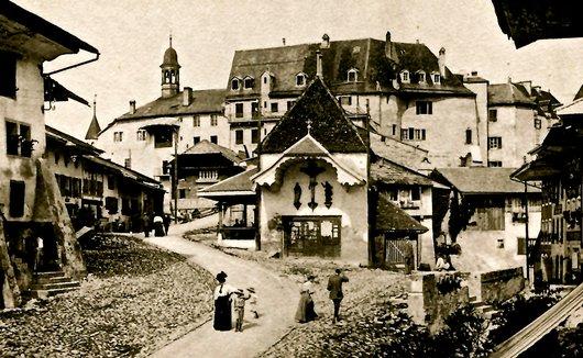 Gruyères, une rue de la ville