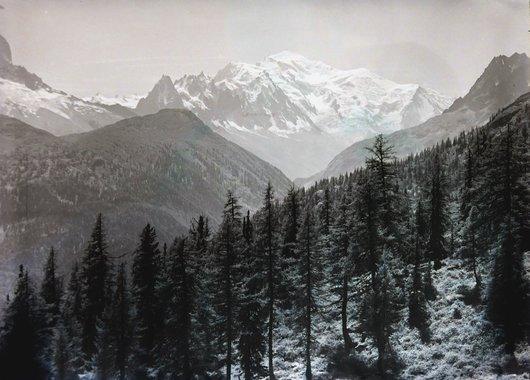 Vue sur la Mont-Blanc depuis Fenestrale Finhaut, canton du Valais
