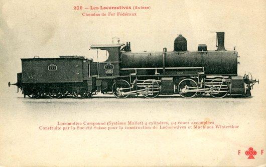Locomotive D 2 x 2/2