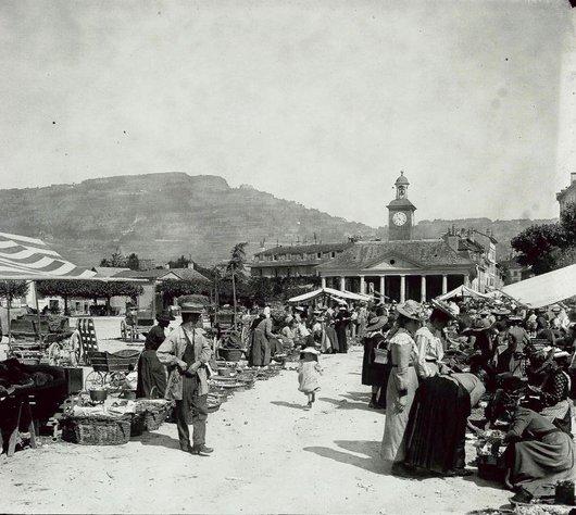 Vevey place du Marché 1904
