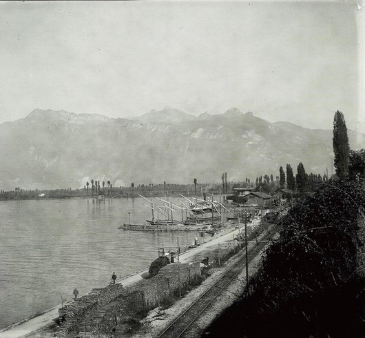Le port du Bouveret 1904