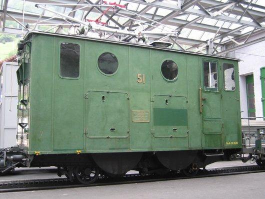 Locomotive He 2/2  51 de la Wengernalpbahn (WAB)