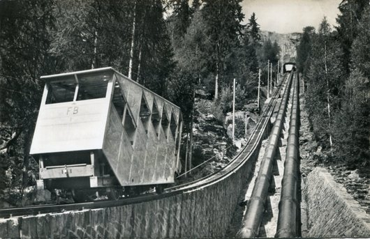 Le funiculaire d'Emosson