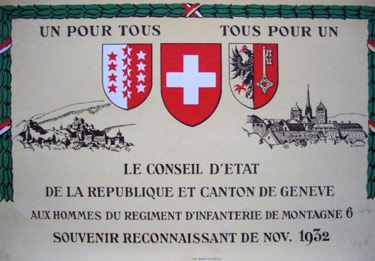 Genève, tragédie du 9 novembre 1932 - «Souvenir reconnaissant»