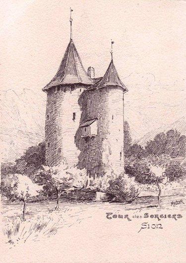 Sion, la tour des Sorciers par Charles Meltzer