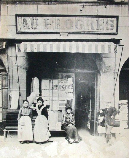 Au Grand-Pont, à Sion, en 1905